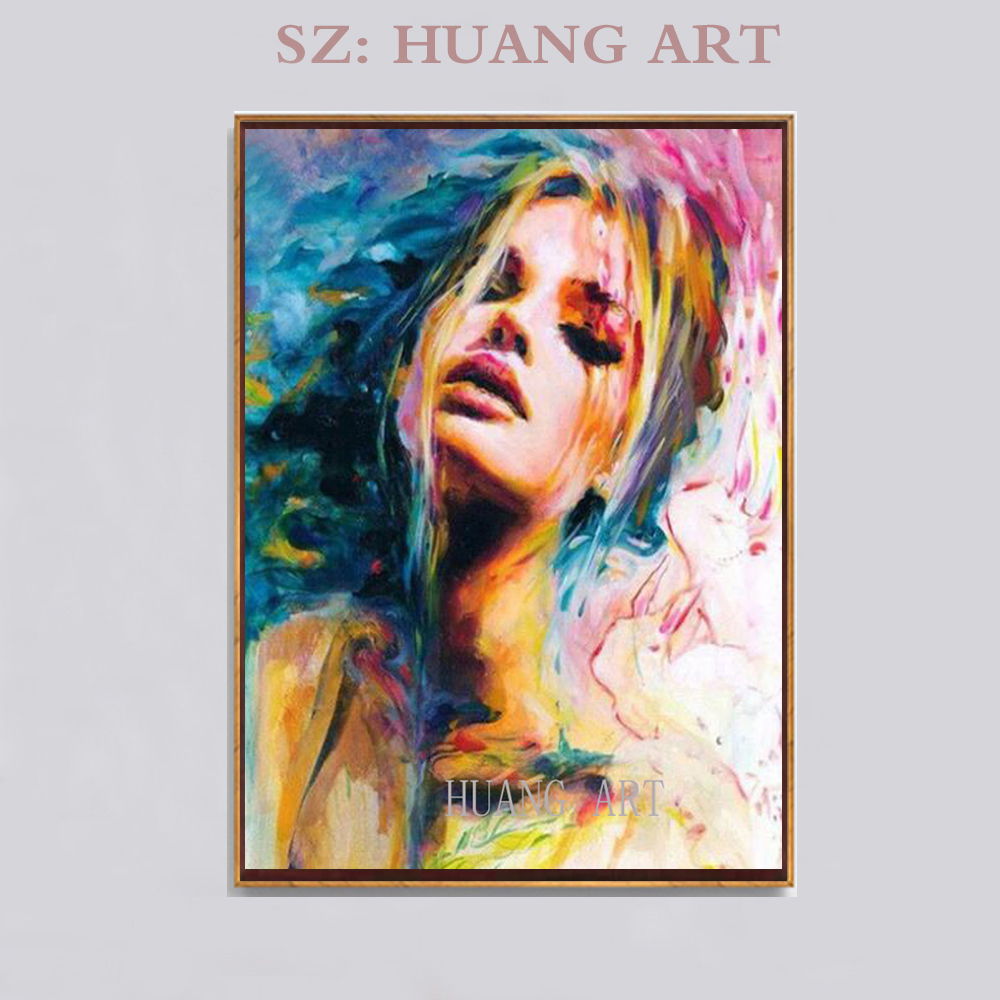 Body sexy beautiful hand painted oil painting figure nude elegant girl painting decoration living room background portrait hall