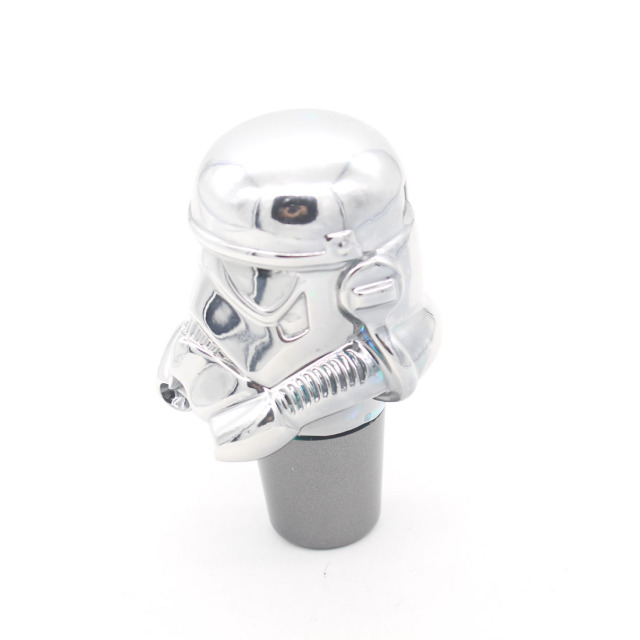 Dongzhen LED Colorful Chrome Car Gear Shift Knob Manual Transmission Stick Gear Lever Knob Star Wars Storm Trooper Soldier Style