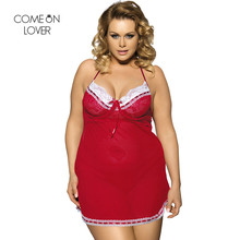 3790c0bdbc Comeonlover Lace Female Night Wear Sleeveless Camison Sexy V-Neck Backless  Baby Doll Nightgown Short