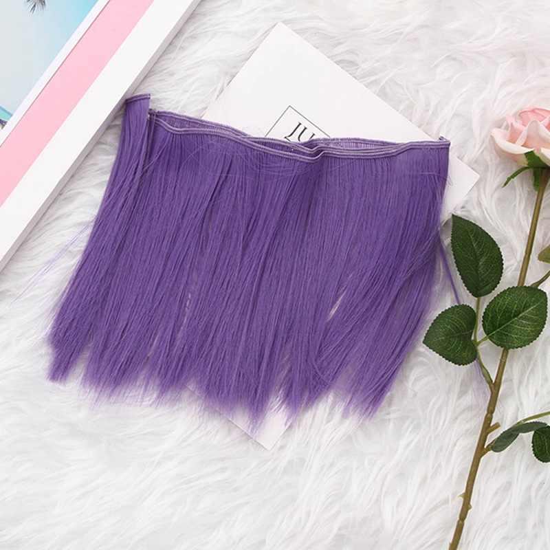1 pces 15*100cm acessórios da boneca em linha reta peruca de fibra sintética cabelo para perucas de boneca fio de alta temperatura