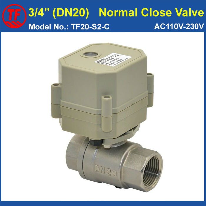 Ac110v 230v 2 wires electric motor operated valve with for 3 4 hp electric motor