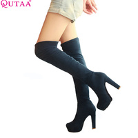 VINLLE 2015 Women S Spring Autumn Over The Knee Boots Sexy Thin High Heel Boots Fashion
