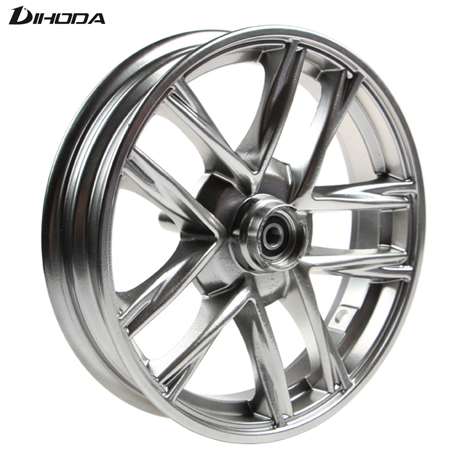 все цены на Universal 10*2.15 Aluminum Alloy Motorcycle modified Rear wheel front wheel Rims For Single Disc Disk Brake