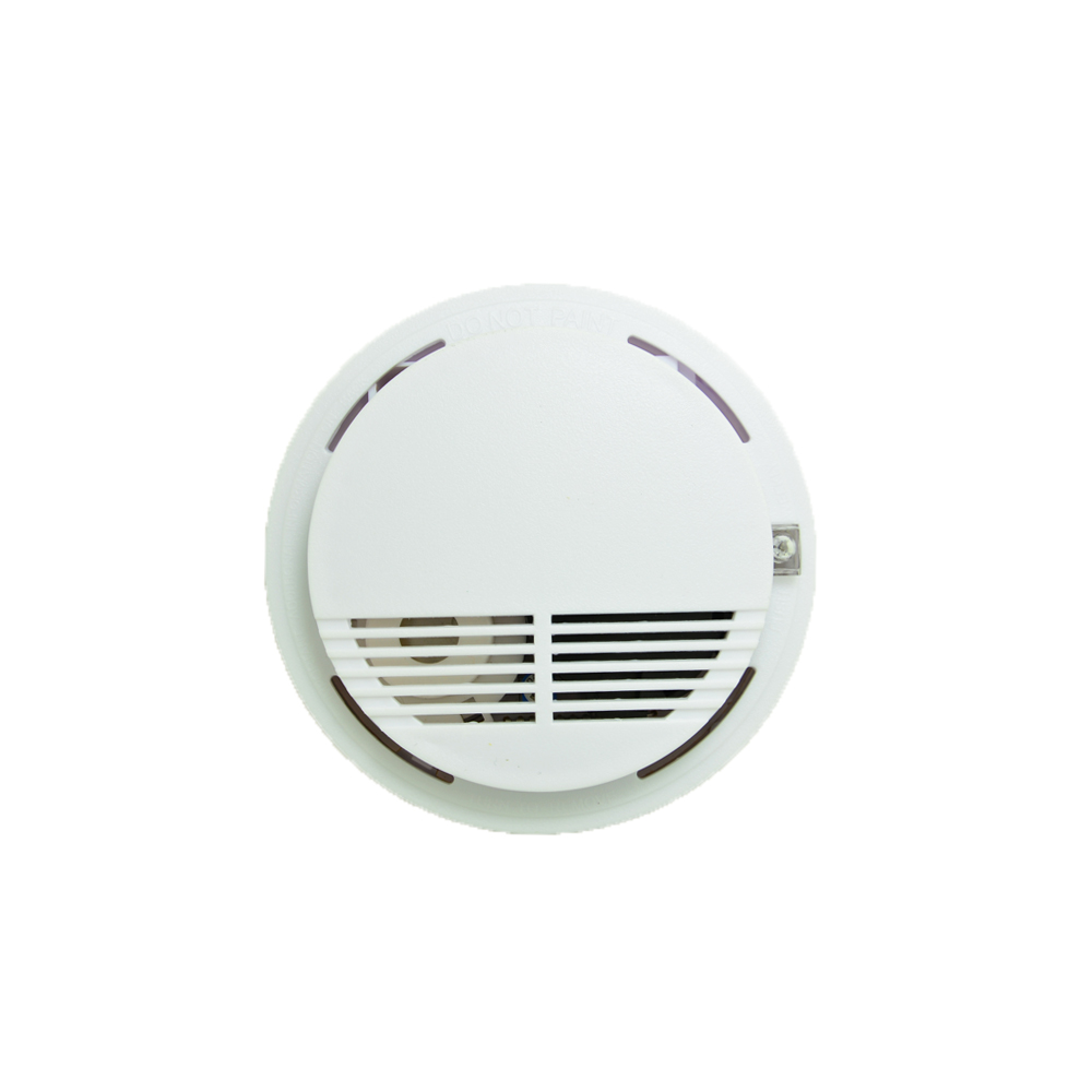 (1 PCS) 12VDC Wired Cable Link indoor Smoke Detector Fire Alarm sensor personal Home security Control Protection NC relay output