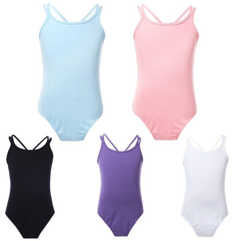 YiZYiF Ballet Leotards Cotton Ballet Dress Camisole Girls Ballet Dance Dancewear Gymnastics Leotard Strap Ballet Leotard Dress(China)