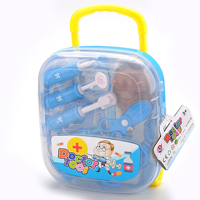 15pcs/Set Doctor Play Toys Set for Child Medical Kit Baby Educational Box Role Pretend Toy Gift @ZJF ...