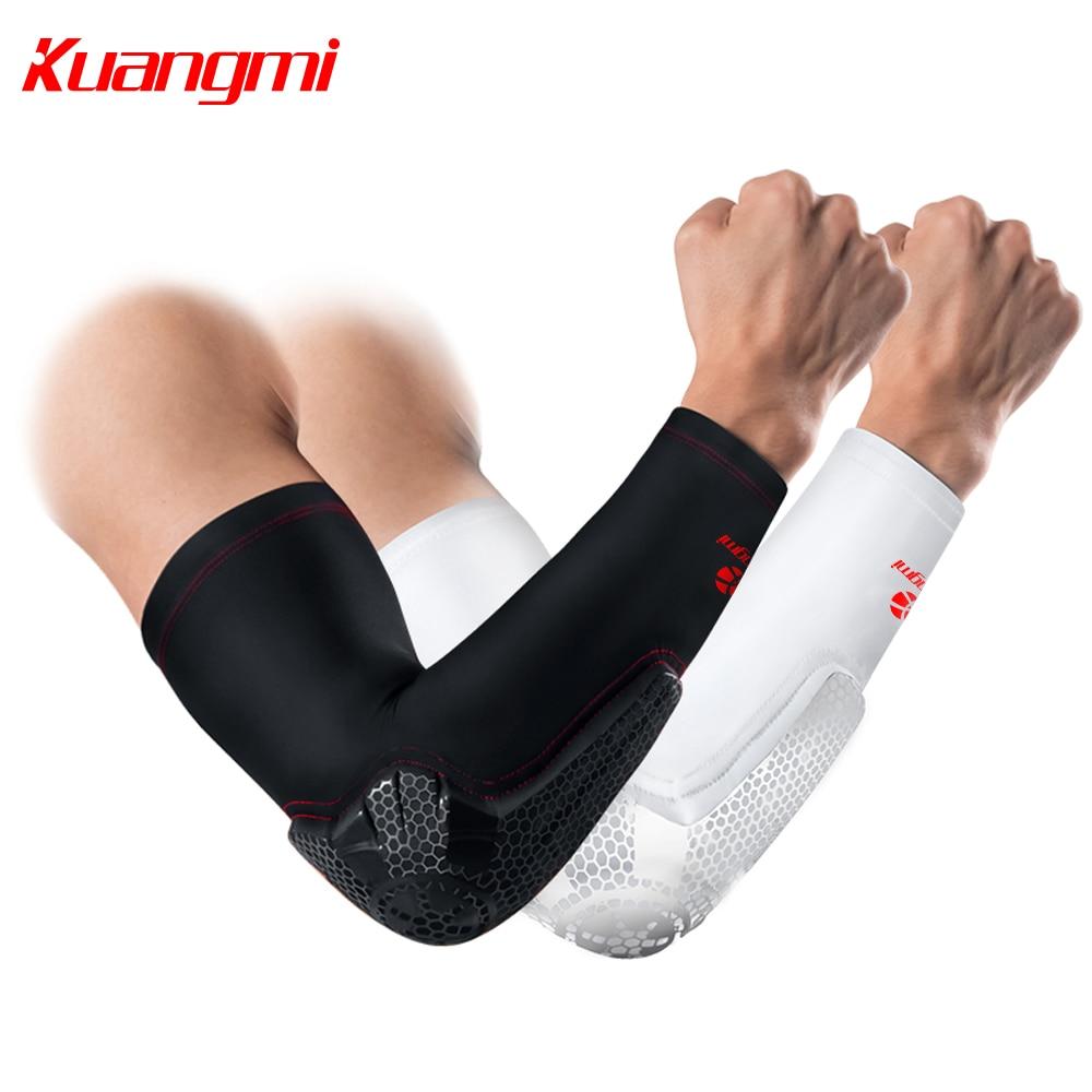 Kuangmi 1 PC Elbow Pad آرنج پشتیبانی بریس بسکتبال فشرده سازی بازوی آستین والیبال ورزشی تناسب اندام فوق العاده گارد cotoveleira