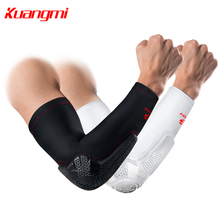 Kuangmi Elbow Pad Support Brace Basketball Arm Compression Sleeve Volleyball Sports Fitness Ultra Guard KMh206