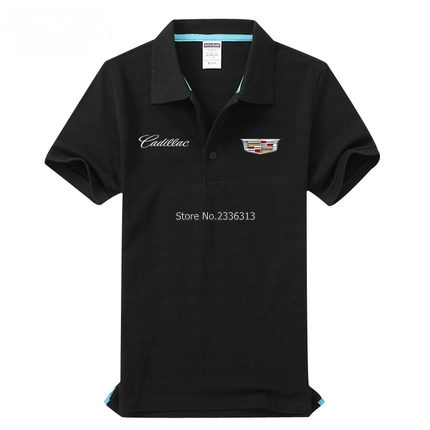 Car Standard 4s Shop Short Sleeved Cadillac Polo Shirts Overalls Men