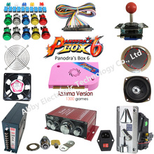 Arcade parts Bundles kit With Pandora Box 6 Long shaft Joystick  button Microswitch Jamma Harness using a arcade game machine