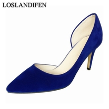 Brand Design Sexy Women Shoes High Heel 2018 Spring New Arrival Shallow Mouth Pointed Toe Pumps NLK-B0158