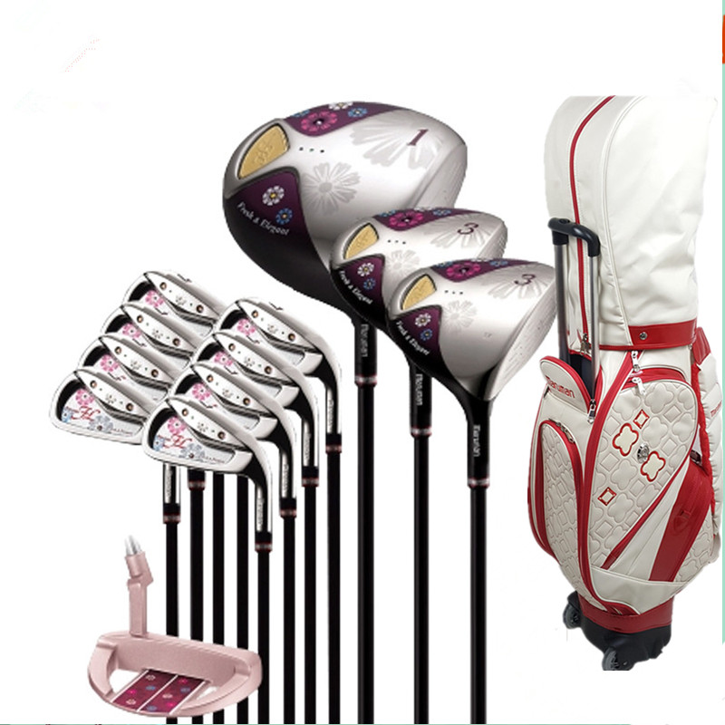 New Womens Golf Clubs Maruman FL Golf Complete Set Of Clubs Driver+fairway Wood+irons+putter Graphite Golf Shaft  Bag