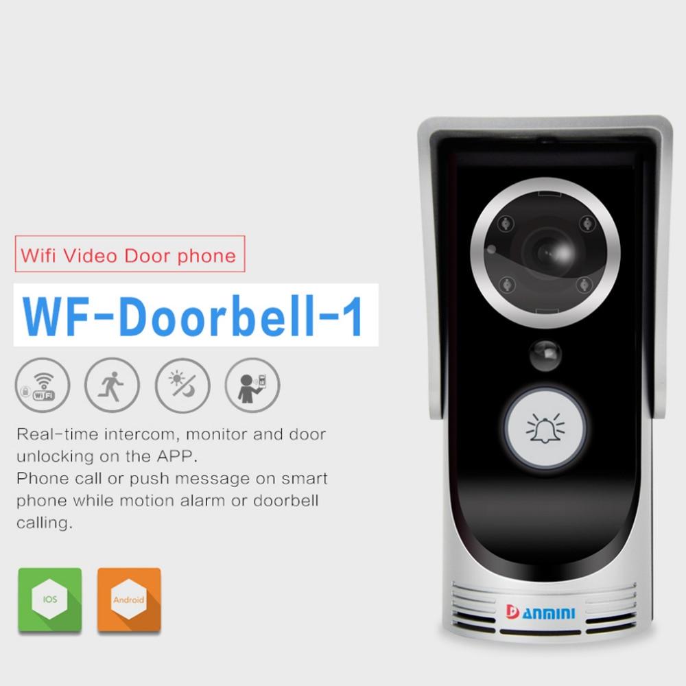 1 Sets IR LED Wifi Video Intercom Wireless Door Phone Motion Detection 720P Night Vision Video Intercom Doorbell Cam wifi version video door phone motion detection hd 720p wireless intercom ip doorbell
