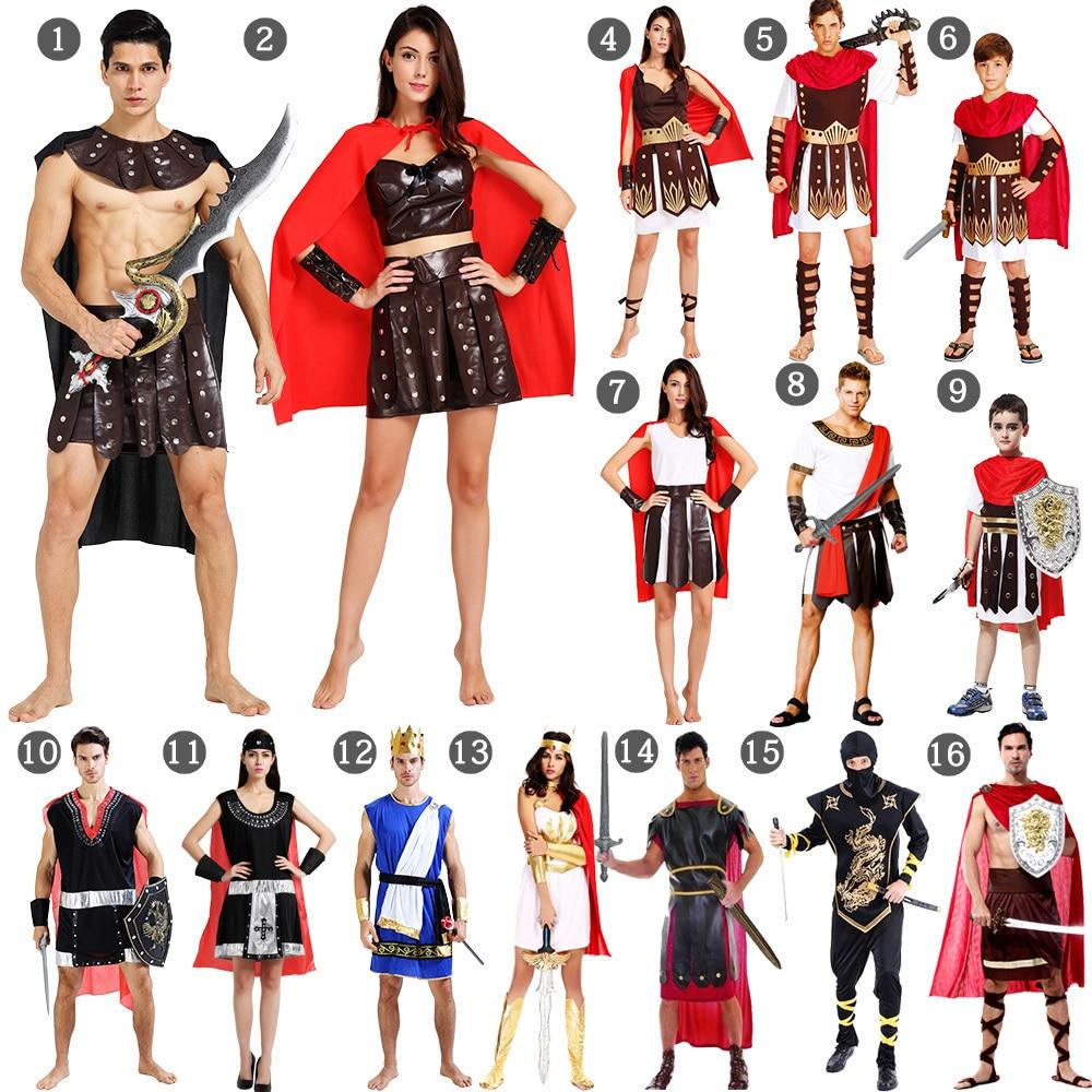 Halloween Costumes For Men Adult Athena Greek Goddess Hercules Purim Ancient Roman Greek Warrior Cosplay Women Ancient Egypt