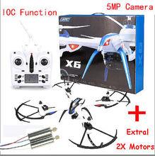Free Shipping! JJRC H16 Tarantula X6 drone 4CH RC Quadcopter Angle 5MP Cam Hyper IOC+2 X Motors