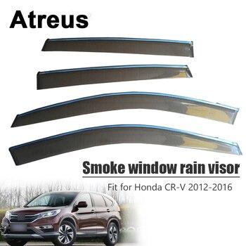 Atreus 4pcs For Honda CR-V 2012 2013 2014 2015 2016 Car Accessories Door Smoke Window Sun Rain Visor Wind Deflectors Guard Cover