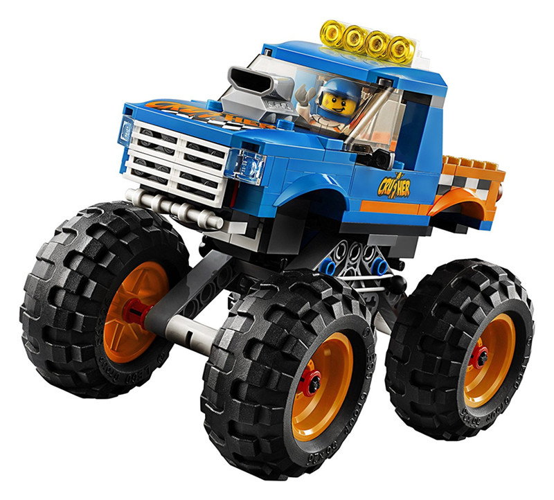 City Monster Truck LEPIN Technic Building Blocks Sets Bricks Classic Model Kids Toys For Children Gift Compatible Legoe waz compatible legoe city lepin 2017 02022 1080pcs city 50th anniversary town figure building blocks bricks toys for children