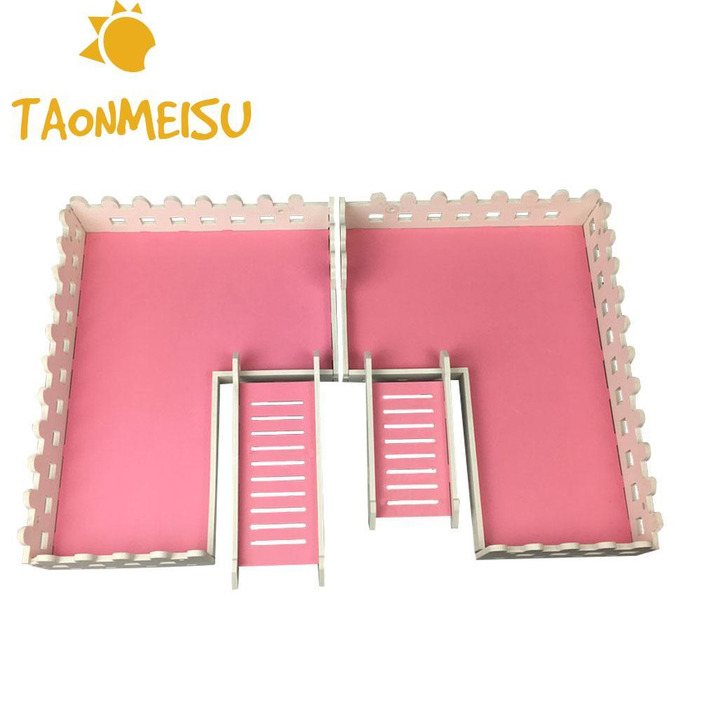 Wooden Hamster Ladder Toys Double-layer 60 Foundation Cage Special Platform Hamster Ladder Climbing Squirrel Funny Pet ToysWooden Hamster Ladder Toys Double-layer 60 Foundation Cage Special Platform Hamster Ladder Climbing Squirrel Funny Pet Toys