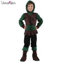 Umorden Kids Child Medieval Archer Hunter Robin Hood Costume for Boys Halloween Carnival Party Fancy Cosplay