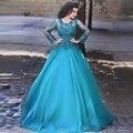 Саудовская Аравия Полный рукавом мать невесты платья O шеи Линия Кружева Бисер Плюс размер Женщин для Торжеств и вечеринок платья Свадебные платья H096