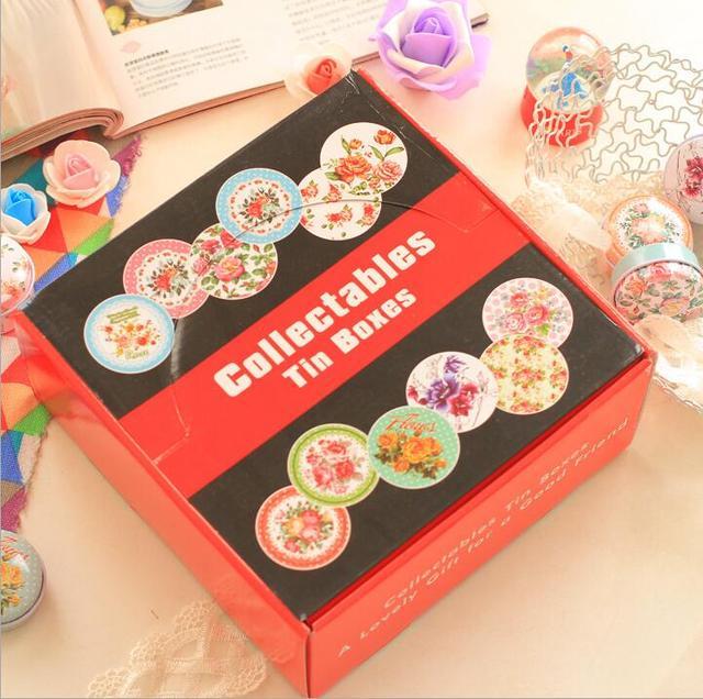 Tee Lagerung box Zinn Box 12 teile/los, Weißblech Süßigkeiten Schmuck Eisen Schmuck Pille Münze Box Fall, geschenk für Weihnachten Kleine Eisen Boxen