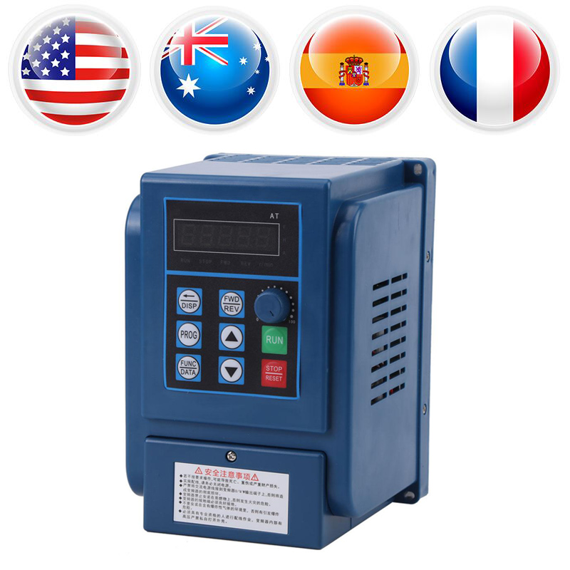цена на AC380V 3A Variable Frequency Drive VFD Speed Controller 3-phase 0.75kW AC Motor Drive Inverter Adjustable Frequency Control Tool