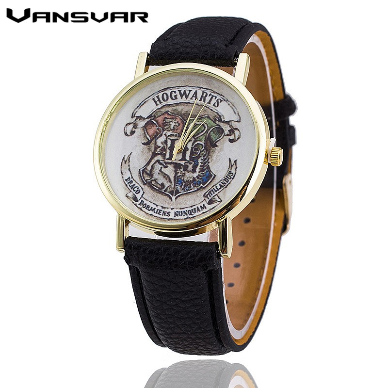 Vansvar Brand HOGWARTS Magic School Watches Fashion Women Wristwatch Casual Luxury Quartz Watches Relogio Feminino