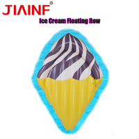 JIAINF Personal Air Mattresses Inflatable Ice Cream Floating Rideable Swimming Pool Toy Float Raft for Diving Swimming