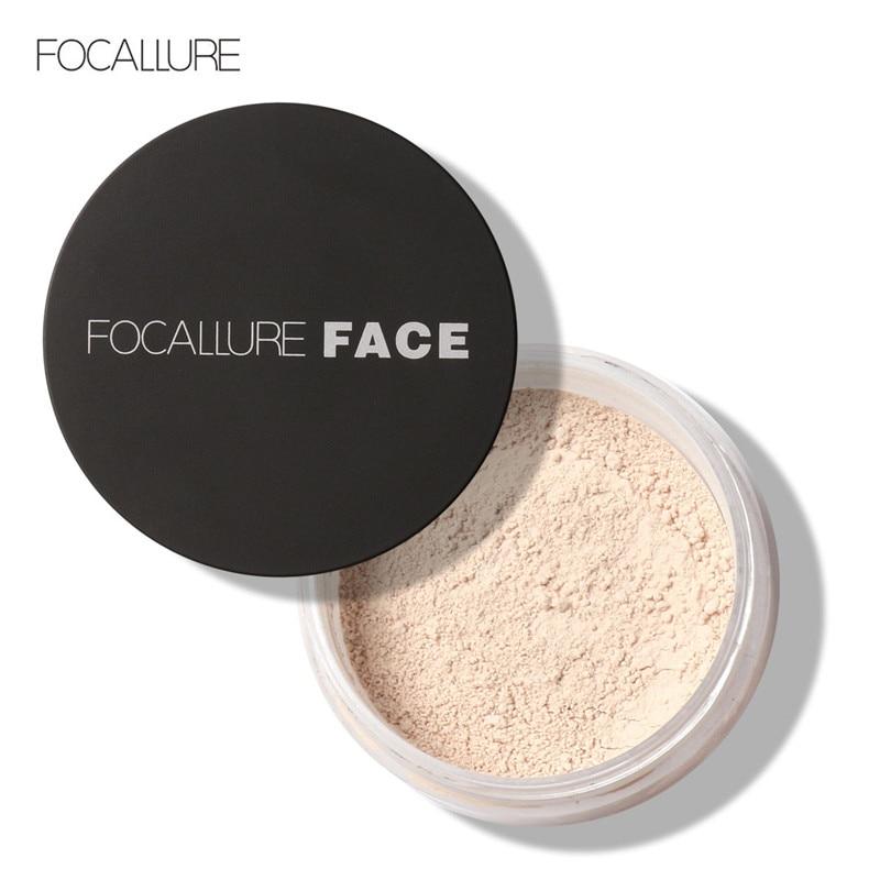 FOCALLURE Brand Powder Professional Makeup Loose Powder Matte Face Long Lasting Whitening Skin Finish Transparent Powder