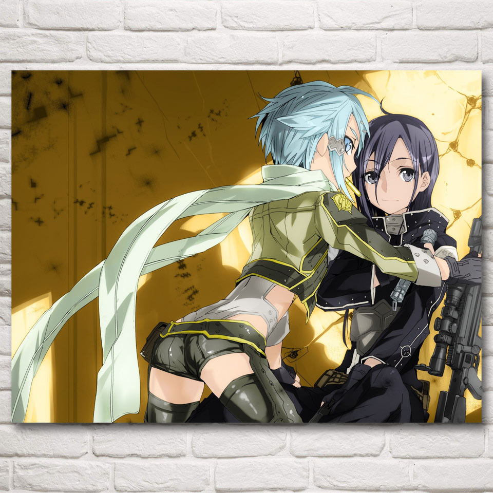 FOOCAME Sword Art Online Anime Ideo Games Kirigaya Kazuto Art Silk Poster Prints Home Decor Painting 12x16 18x24 24X32 Inches