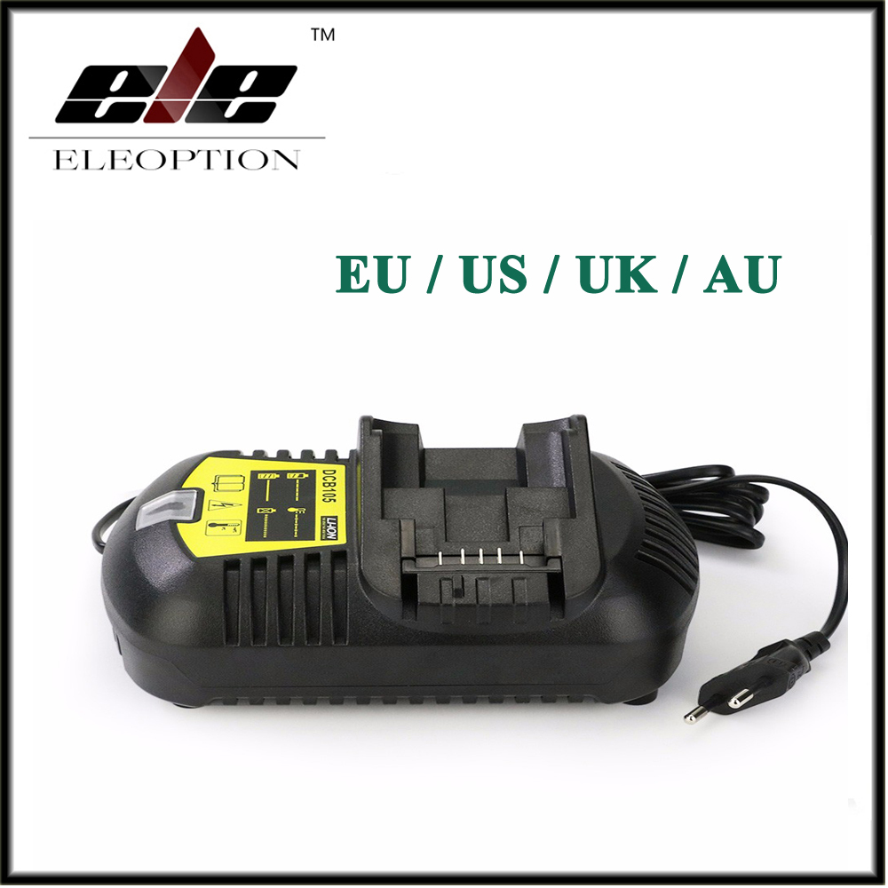 Eleoption Chargeur Pour Li-ion Batterie 10.8 v 12 v 14.4 v 20 v MAX Pour DCB200 DCB201 DCB101 DCB105