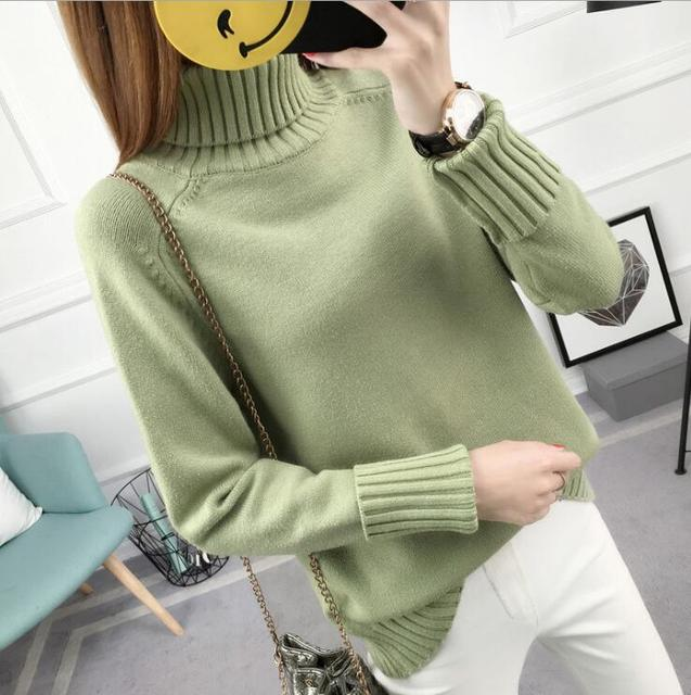 26c58a276a 2018 Spring Autumn Boss Sweater Women Hedging Loose Long sleeves Warm  Knitted Sweaters Elegant Ladies Winter