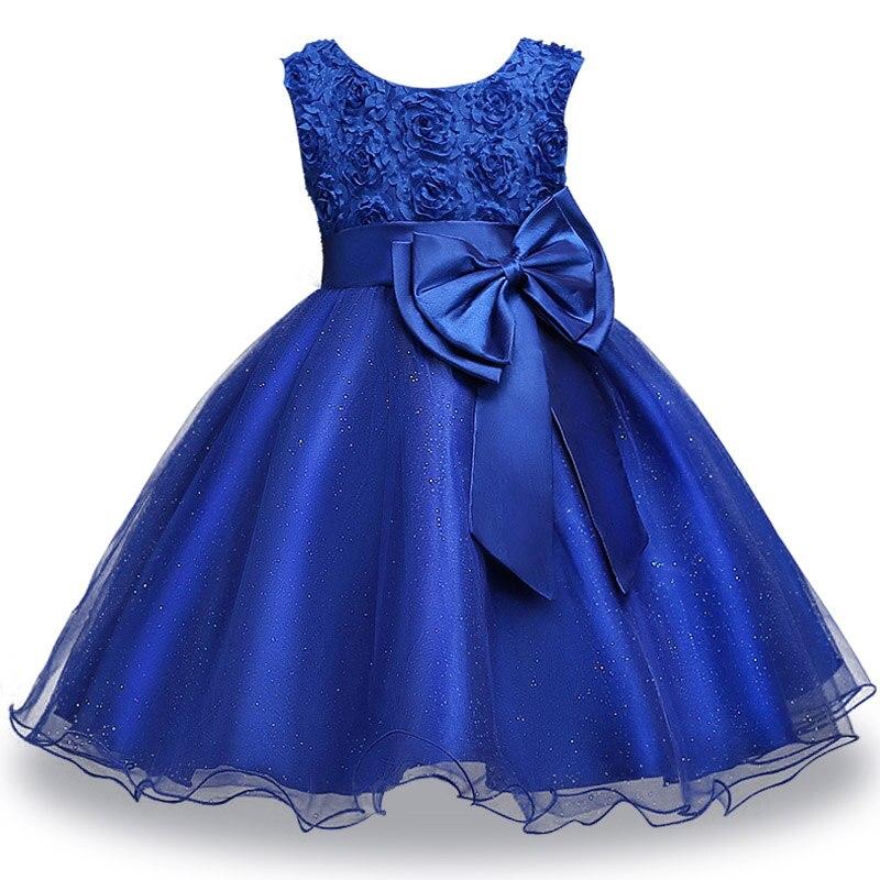 girls dress-navy blue