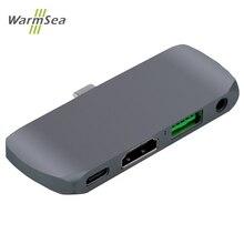 USB C ハブプロ USB C アダプタ PD 充電 HDMI 4 56K の USB 3.0 3.5 ミリメートルオーディオ互換性 macbook Pro の SamsuS8 S9 S10 P20 P30