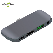USB C محور لباد برو USB C محول مع PD شحن HDMI 4 K USB 3.0 3.5 مللي متر الصوت متوافق ماك بوك برو SamsuS8 S9 S10 P20 P30