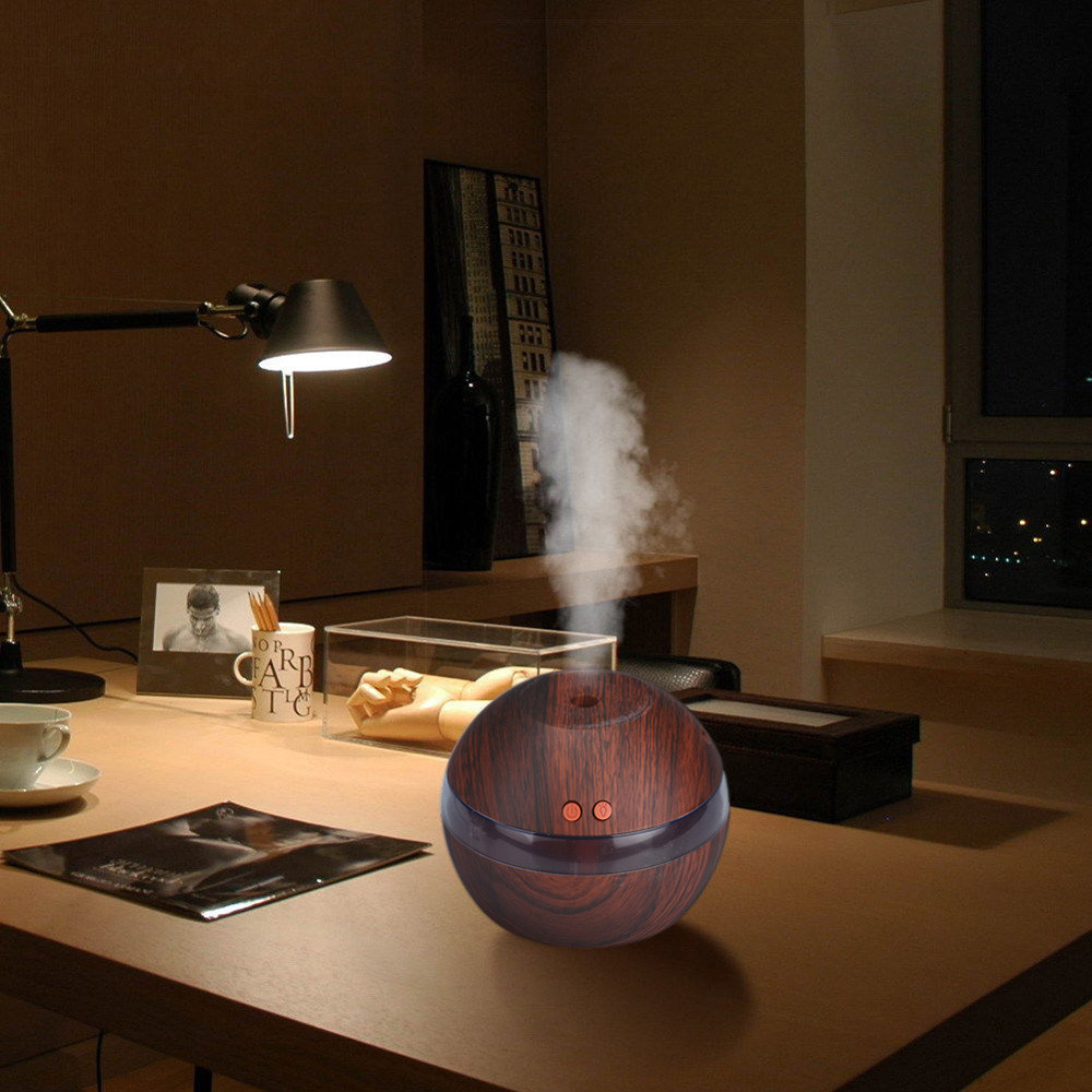 200ml Air Aroma Essential Oil Diffuser LED Ultrasonic Aroma Aromatherapy Humidifier