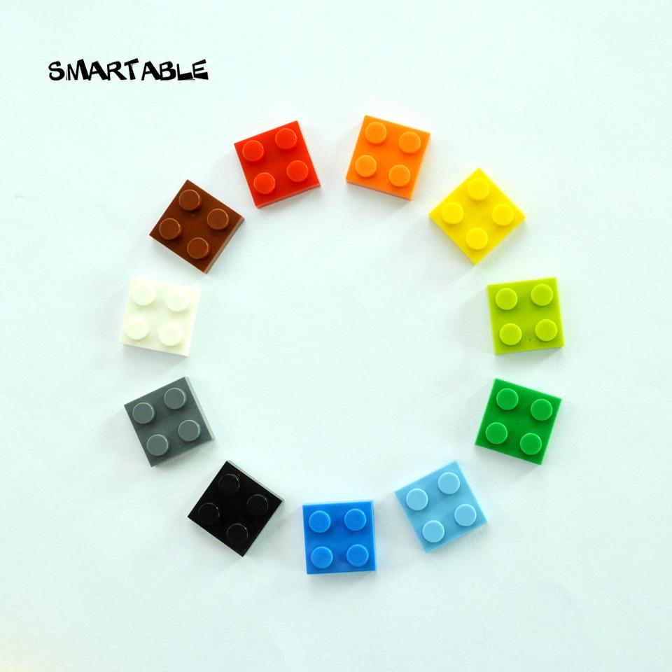20 Novo Lego Dobradiça Placa de bloqueio de 2 X 2 com 1 dedo na parte superior preta