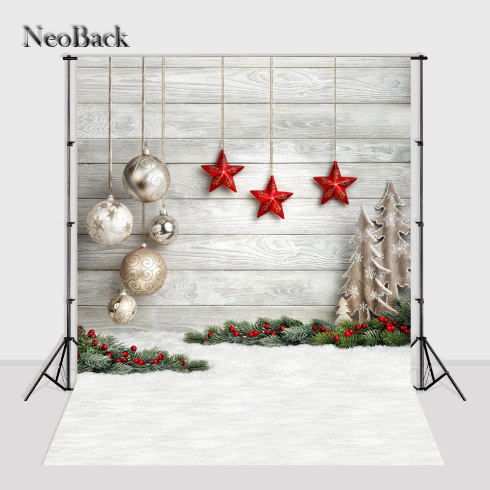New 6x9ft Vinyl New born baby Christmas photography backgrounds Christmas tree Star Silver Ball decoration Photo Backdrop B1055 a backdrop christmas backgrounds new year noel golden tree gift ball xmas photocall vintage fond newborns