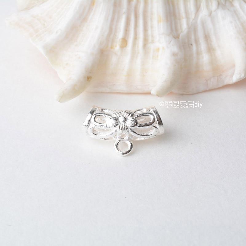 纯银吊环镂空花纹弯管 (1)