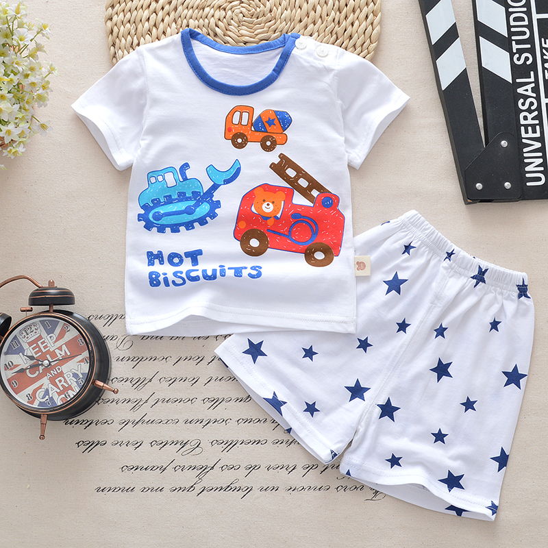 Baby Boy Clothes Summer 2018 New Baby Boy Girl Clothing Set Cotton Newborn Girls Clothing Cartoon Baby Clothes tshirt+short Pant summer 2017 newborn baby boy clothes short sleeve cotton t shirt tops geometric pant 2pcs outfit toddler baby girl clothing set
