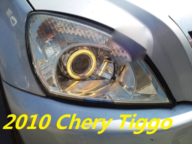 Tiggo headlight,2005~2010/2011~2013,Tiggo3,Fit for LHD,Free ship! tiggo fog light,2ps/set+2pcs Aozoom Ballast; tiggo 3 2011 2013 golf6 fog light 2pcs set wire of harness golf6 halogen light 4300k free ship golf6 headlight golf 6