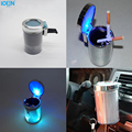 New Portable Universal LED Car Ashtray Luminous cup holder ashtray Round ash bucket Car Accessories Cigarette Cylinder Holder
