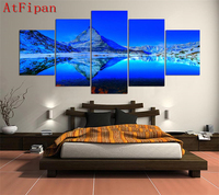 5 panel frameless home decoration high quality landascape view painting print picture oncanvas for living room