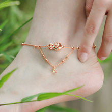 18KGP Rose Gold Plated Clownfish Crystal Anklet Made With SWA Elements Women s Designer Jewelry Free