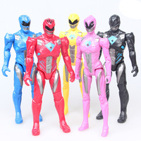 5pcs Set Action Figure Christmas Gifts Doll Toys Power Ranger