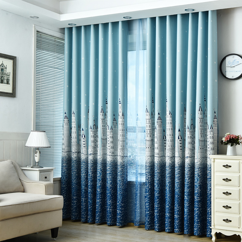 Cartoon Trees Curtains For Kids Boys Bedroom Blinds Linen: ���New Cartoon Castle Curtains For ��� ���_ộ ��� Children Children