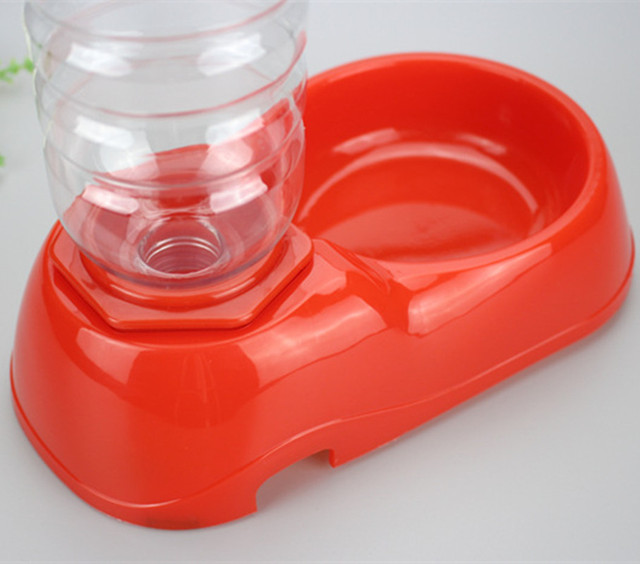 350ml Pet Dog Puppy Water Drinking Bottles Dispenser Food Dish Bowl Feeder For Dogs Automatic Travel Feeding Bowl