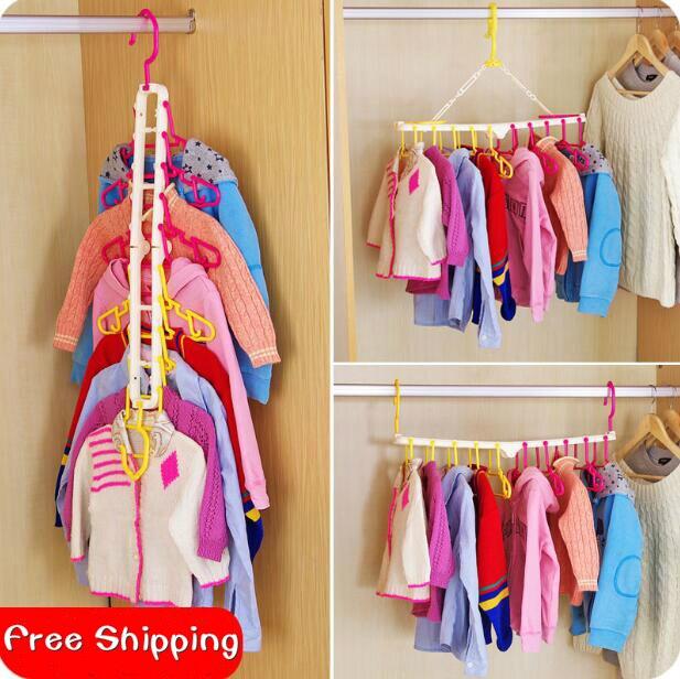 Япония Стиль Взрослый Ребенок Пластиковая Вешалка Ветрозащитный Нескользящая Многофункциональная Складная Сушилка Детская Вешалка Для Одежды