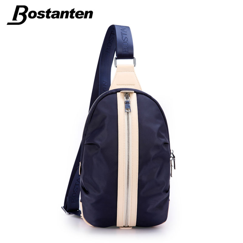 Bostanten Fashion Nylon Chest Pack Patchwork Crossbody Bag Waterproof Single Shoulder Beach Bag Male Travel Messenger Bags стоимость