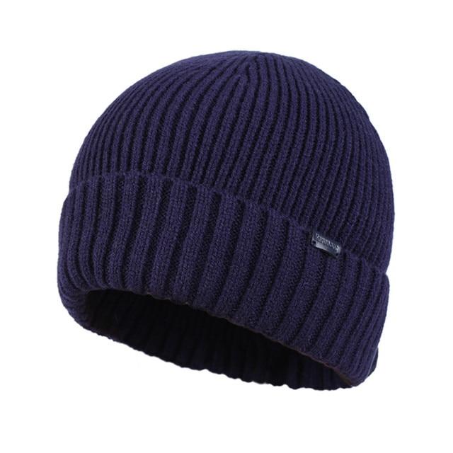Kenmont Autumn Winter Unisex Men Wool Crochet Knit Solid Color Skull Cap Beanie Hat Cuff Tam 1561
